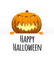 happy halloween a template on a white background vector image