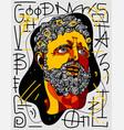 hercules portrait sculpture graffiti style vector image vector image