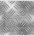 industrial metal plate with non slip diamond vector image vector image