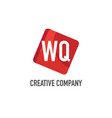initial letter wq logo template design vector image vector image