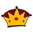 king crown on white background vector image vector image