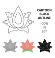 lotus icon of for web and vector image vector image