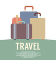 Many Luggage Travel Concept Vintage Style vector image vector image