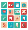 Medicine icons set flat vector image vector image