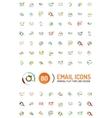Mega set of email logos vector image vector image