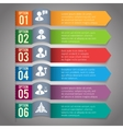 Paper infographics template vector image