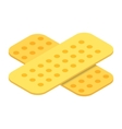 Patches isometric 3d icon vector image vector image