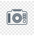 photo camera concept linear icon isolated on vector image