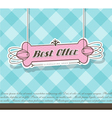 Pink Best Offer label vector image vector image