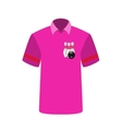 Pink T-shirt Player with the image of bowling vector image