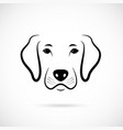 portrait of dog line art dog icon vector image vector image