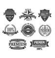 premium quality product badges guarantee labels vector image