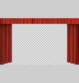 red cinema curtain on stage vector image vector image