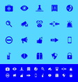 Security color icons on blue background vector image
