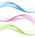 set abstract color wave color smoke wave vector image vector image