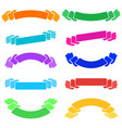 set of colored flat isolated ribbon banner on a vector image