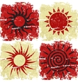 Set of different grunge sun backgound vector image vector image