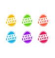 set of easter egg greeting sticker vector image vector image