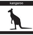 silhouette kangaroo in grunge design style animal vector image vector image