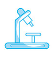 Silhouette medical microscope to biology discovery