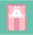 sleeping rabbit bunny bapet animal collection vector image vector image