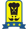 Star chef symbol vector image vector image