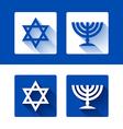 Star of David and menorah icons vector image