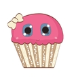 Sweet Tasty Cupcake vector image