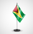 Table flag of Guyana vector image vector image