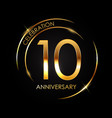 template 10 years anniversary vector image