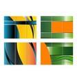 Tri-Fold Brochure Design set vector image vector image