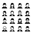 User icons set 1 vector image vector image
