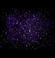violet and purple glitter particles vector image