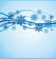 wave snowflake background vector image vector image
