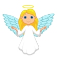 White angel cartoon vector image