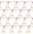 Wild flower spring pink and green field seamless vector image vector image