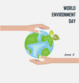 world environment day concept logo design vector image