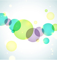 Bright circles background vector image