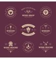Wine labels on dark background vector image