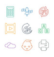 9 glossy icons vector image vector image