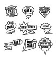 advertising outline black and white tags vector image