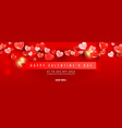 assorted different size 3d airy transparent heart vector image
