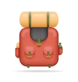Backpak Travel Trip Vacation Summer Spring Concept vector image vector image