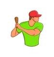 Baseball player with bat icon cartoon style vector image vector image