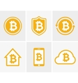 bitcoin logo Bitcoin icon Bitcoin cloud vector image