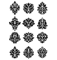 Bold floral arabesque motifs vector image vector image