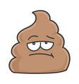 bored poop cartoon character vector image
