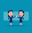 break at work time office workers concept cute vector image vector image