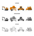 build and construction vector image