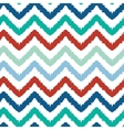 Colorful ikat chevron seamless pattern background vector image vector image